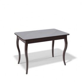 Кухонный раздвижной стол Kenner 1100C (Венге/Стекло серое глянец)
