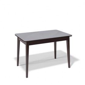 Кухонный раздвижной стол Kenner 1100M (Венге/Стекло серое глянец)