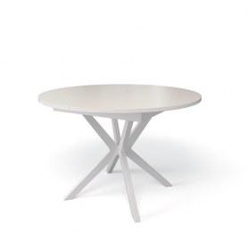 Кухонный раздвижной стол Kenner B1100 (Белый/Стекло крем глянец)
