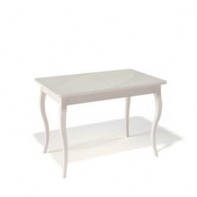 Кухонный раздвижной стол Kenner 1100C (Бук/Стекло крем глянец)