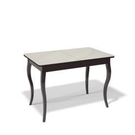 Кухонный раздвижной стол Kenner 1100C (Венге/Стекло крем глянец)