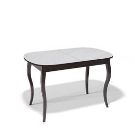 Кухонный раздвижной стол Kenner 1300C (Венге/Стекло белое глянец)
