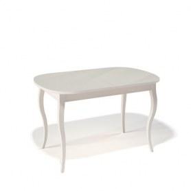 Кухонный раздвижной стол Kenner 1300C (Бук/Стекло крем глянец)