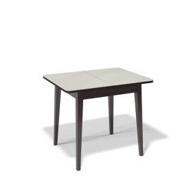 Кухонный раздвижной стол Kenner 900M (Венге/Стекло крем глянец)