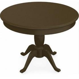Обеденный раздвижной стол Леонардо-1 исп. Круг 1000, тон 5 (Морилка/Эмаль)