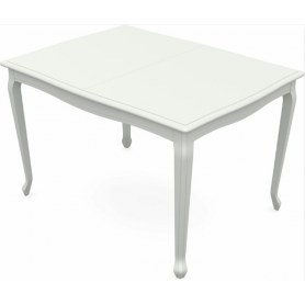 Обеденный раздвижной стол Кабриоль 1400х800, тон 9 (Морилка/Эмаль)