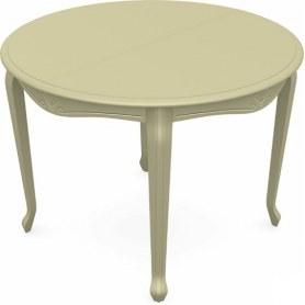 Обеденный раздвижной стол Кабриоль исп. Круг 1050, тон 10 (Морилка/Эмаль)