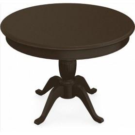 Обеденный раздвижной стол Леонардо-1 исп. Круг 1000, тон 7 (Морилка/Эмаль)