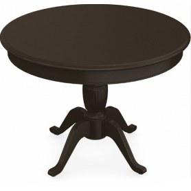 Обеденный раздвижной стол Леонардо-1 исп. Круг 1000, тон 8 (Морилка/Эмаль)