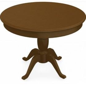 Обеденный раздвижной стол Леонардо-1 исп. Круг 1000, тон 2 (Морилка/Эмаль)