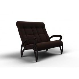 Прямой диван Зельден, ткань шоколад