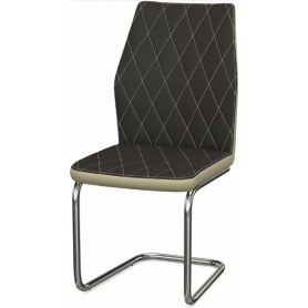 Обеденный стул Шато ромб 2-х цветный  (Nitro Brown - Cream)