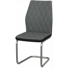 Обеденный стул Шато ромб 2-х цветный (Nitro Grey - Black)