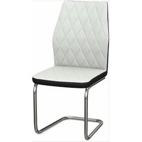 Обеденный стул Шато ромб 2-х цветный (Nitro White - Black)