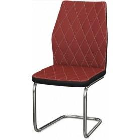 Обеденный стул Шато ромб 2-х цветный  (Nitro Red - Black)