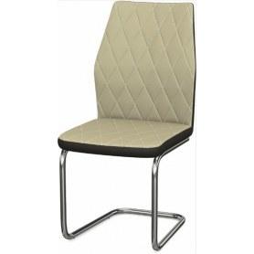 Обеденный стул Шато ромб 2-х цветный  (Nitro Cream - Brown)