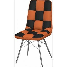Обеденный стул Бордо-2 2-х цветный (Nitro Orange - Brown)
