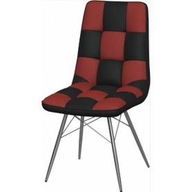 Обеденный стул Бордо-2 2-х цветный (Nitro Black - Red)