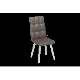 Обеденный стул Ричард с цилиндрическими опорами (Сафари Стоун/Белый)