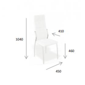 Кухонный стул Kenner 106S хром/серый
