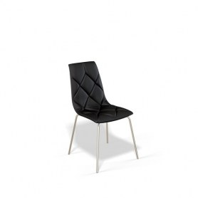 Кухонный стул Kenner 108S хром/черный