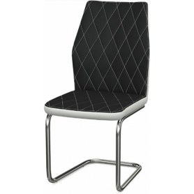 Обеденный стул Шато ромб 2-х цветный  (Nitro Black - White)