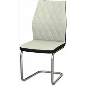 Обеденный стул Шато ромб 2-х цветный (Ottawa Milk - Black)