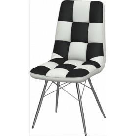 Обеденный стул Бордо-2 2-х цветный (Nitro White - Black)