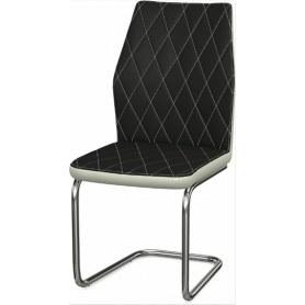 Обеденный стул Шато ромб 2-х цветный (Ottawa Black - Milk)