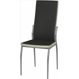 Обеденный стул Мартини 2-х цветный окраш (Ottawa Black - Milk)