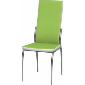 Обеденный стул Мартини 2-х цветный хром (Nitro Green - White)