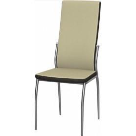 Обеденный стул Мартини 2-х цветный хром (Nitro Cream - Brown)