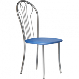 Кухонный стул В-1 хром, кожзам, синий