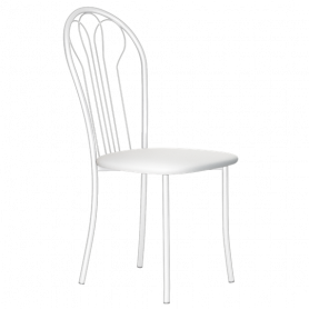 Кухонный стул В-1 б/к, кожзам, белый мрамор