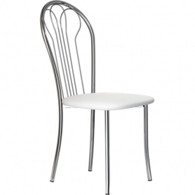 Кухонный стул В-1 хром, кожзам, белый мрамор