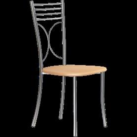 Кухонный стул Б-205 хром, светлое дерево
