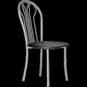 Кухонный стул В-1 металлик, кожзам, черный