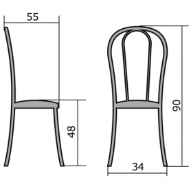 Кухонный стул В-1 металлик, кожзам, светло-серый