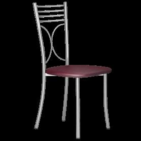 Кухонный стул Б-205 металлик, кожзам, бордовый