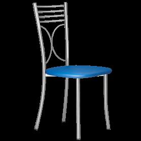 Кухонный стул Б-205 металлик, кожзам, синий
