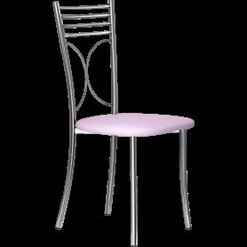 Кухонный стул Б-205 хром, кожзам, бледно-сиреневый