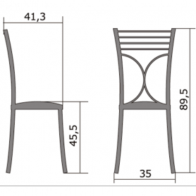Кухонный стул Б-205 хром, кожзам, бронза(перламутр)
