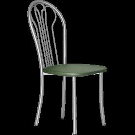 Кухонный стул В-1 металлик, кожзам, зеленый