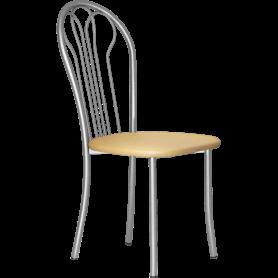 Кухонный стул В-1 металлик, кожзам, бежевый