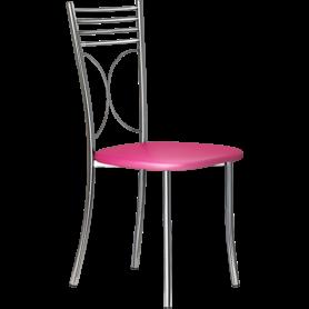 Кухонный стул Б-205 хром, кожзам, розовый