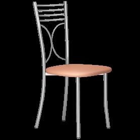 Кухонный стул Б-205 металлик, кожзам, песочный(перламутр)