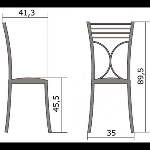 Кухонный стул Б-205 металлик, кожзам, золотой(перламутр)