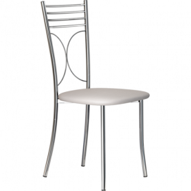 Кухонный стул Б-205 хром, кожзам, светло-серый
