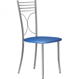 Кухонный стул Б-205 хром, кожзам, синий