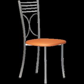 Кухонный стул Б-205 хром, кожзам, персиковый(перламутр)